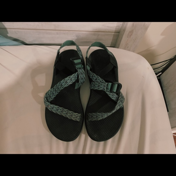 Chaco Shoes - Size 8 turquoise chevron chacos